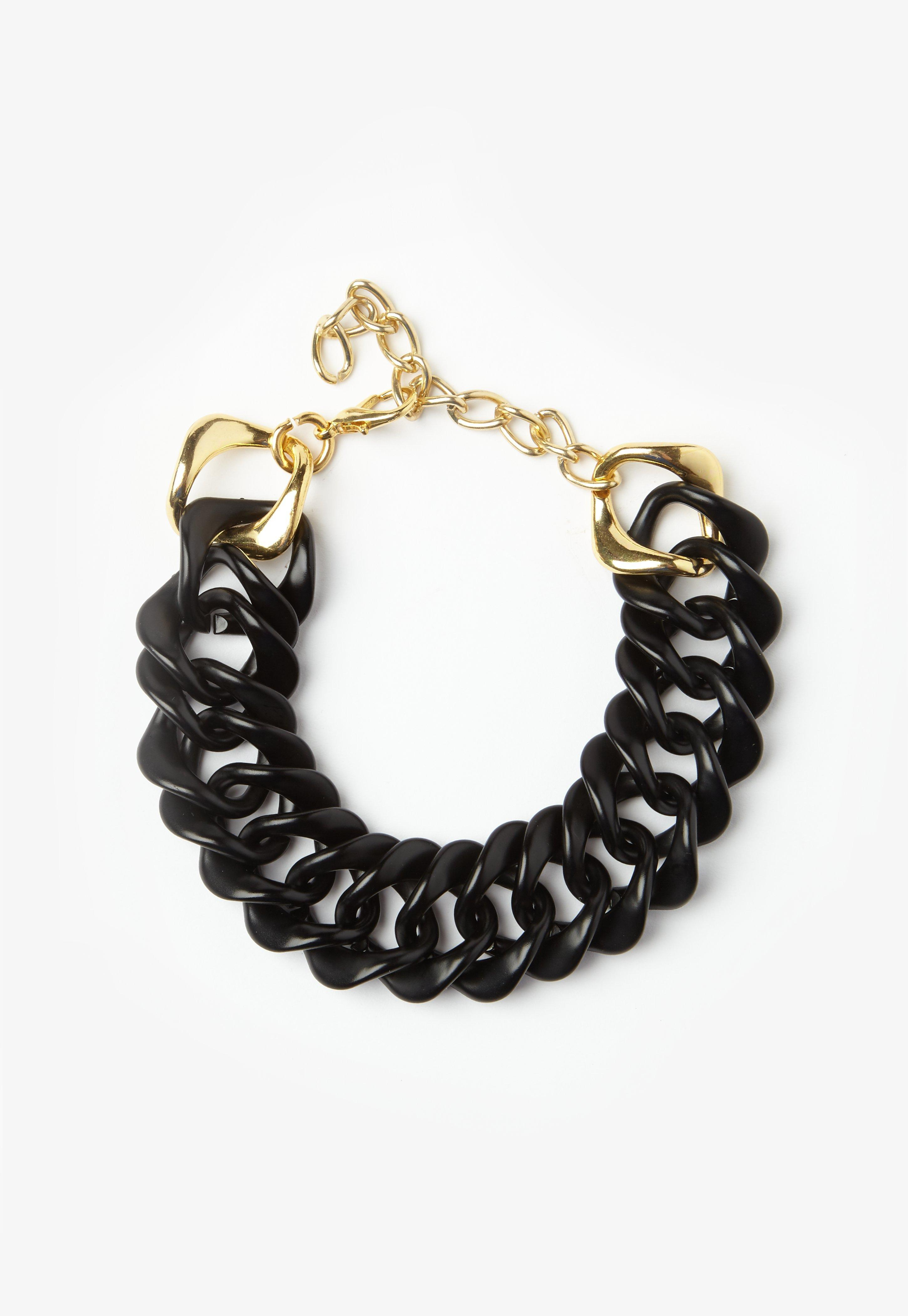 Missguided Black Chunky Chain Choker Necklace