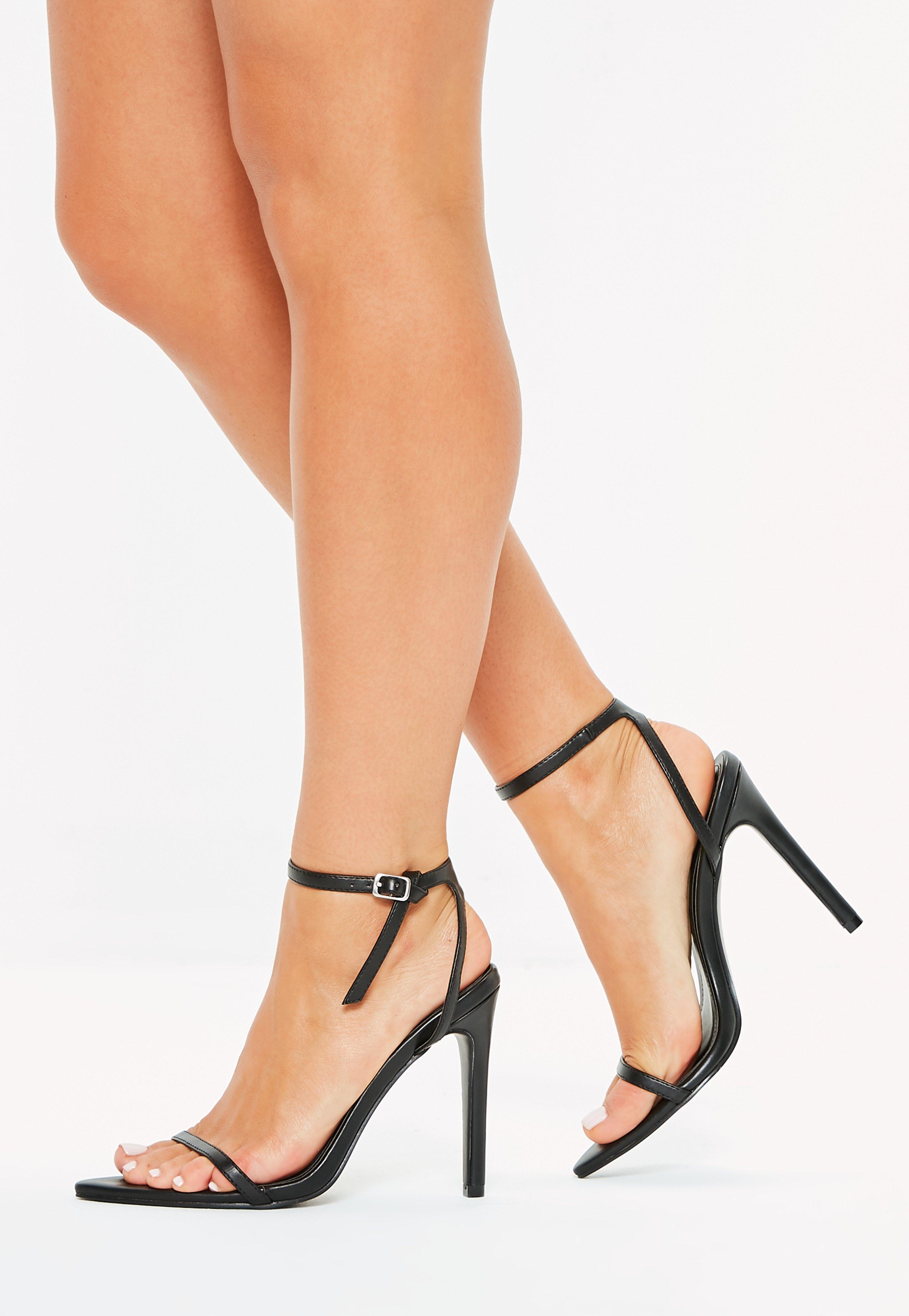Skinny Strap Wrap Sandal Heels - Lyst