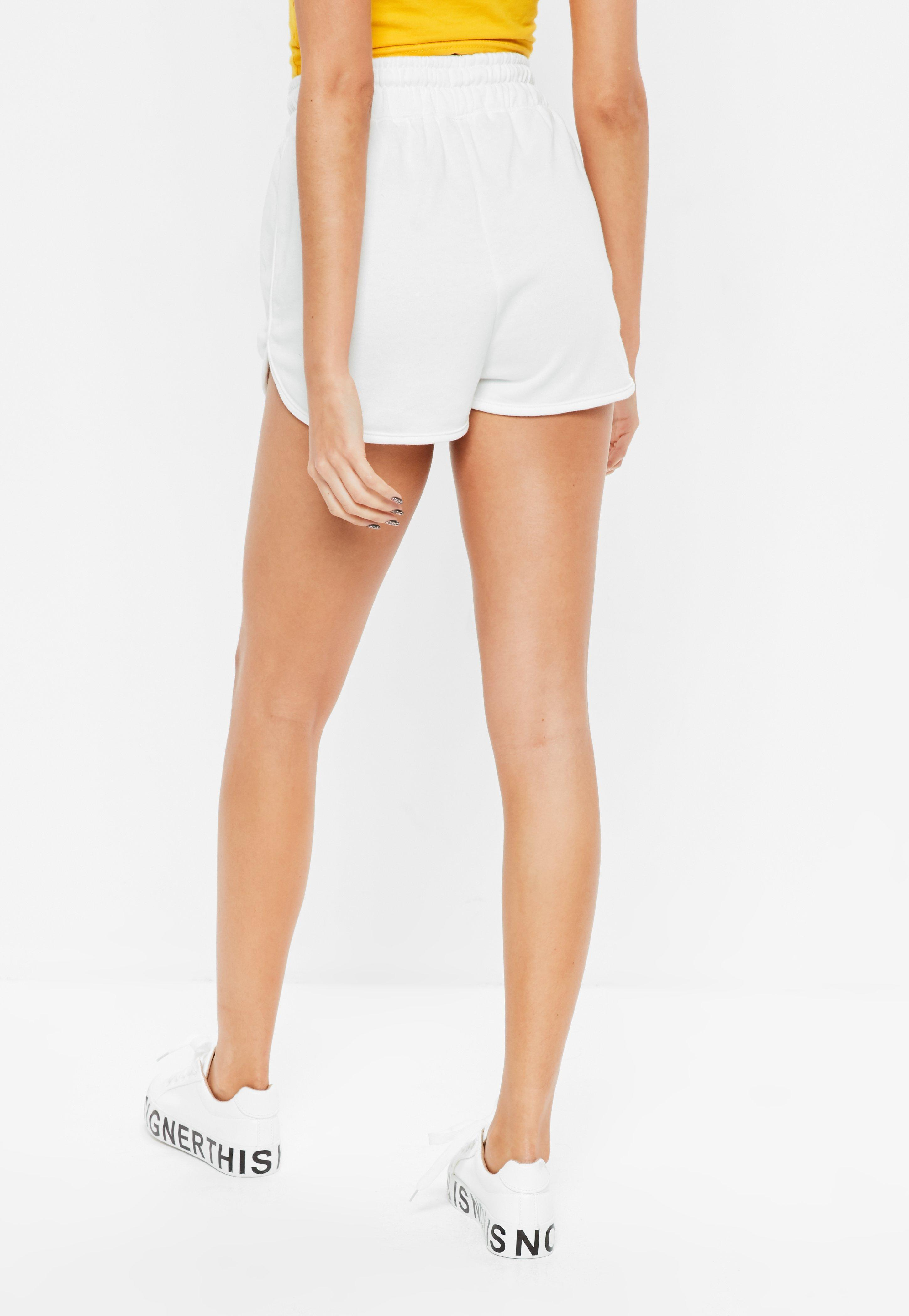 Tie Waist Detail Crepe Tailored Shorts Camel | Missguided
