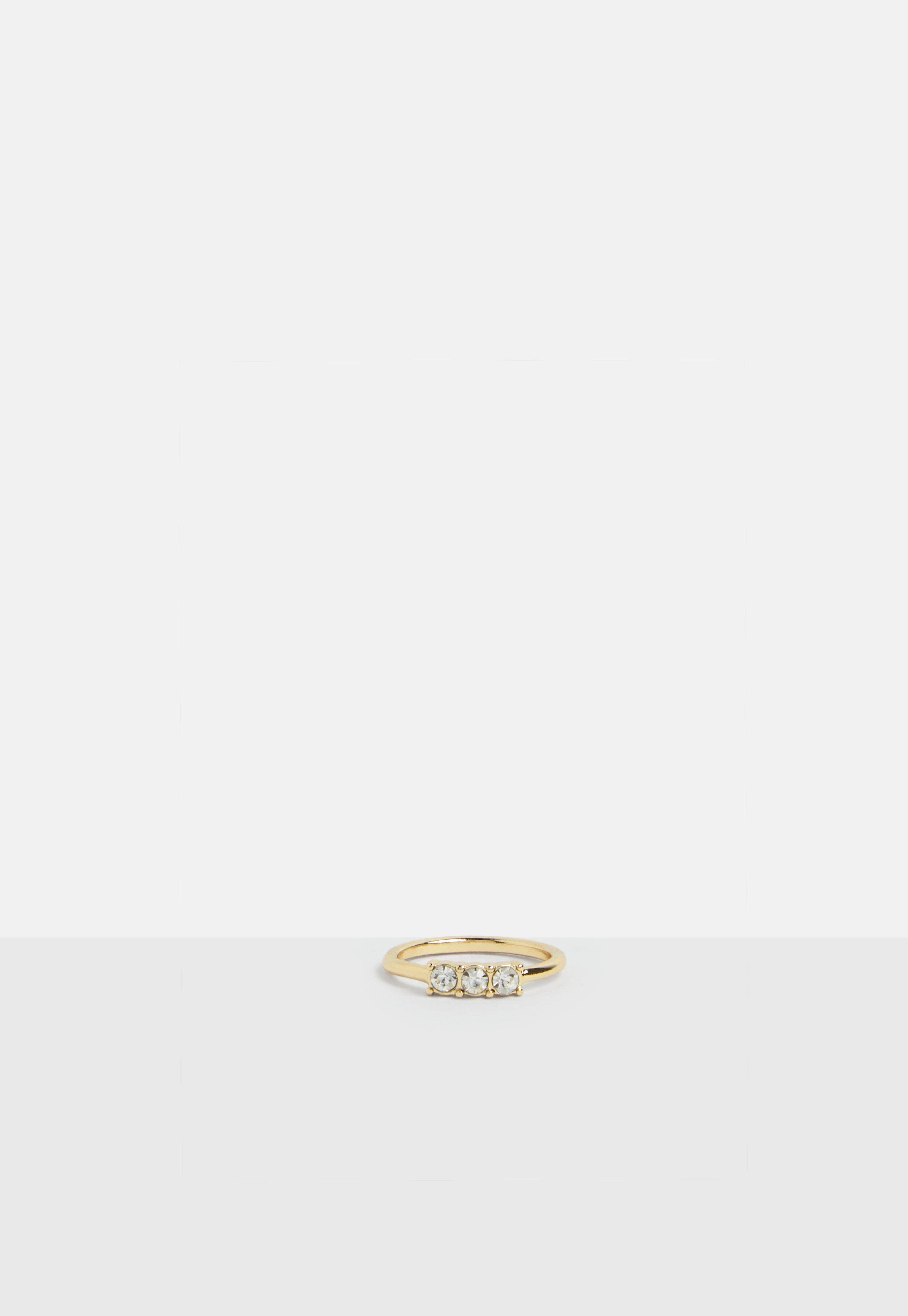 Missguided Gold 6 Pack Stud Rings in Metallic