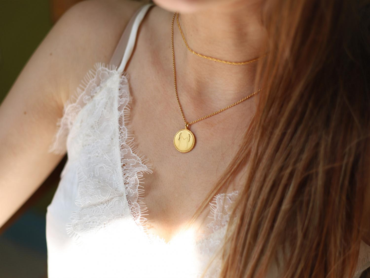 Missoma Body Language M Initial Necklace By Fee Greening