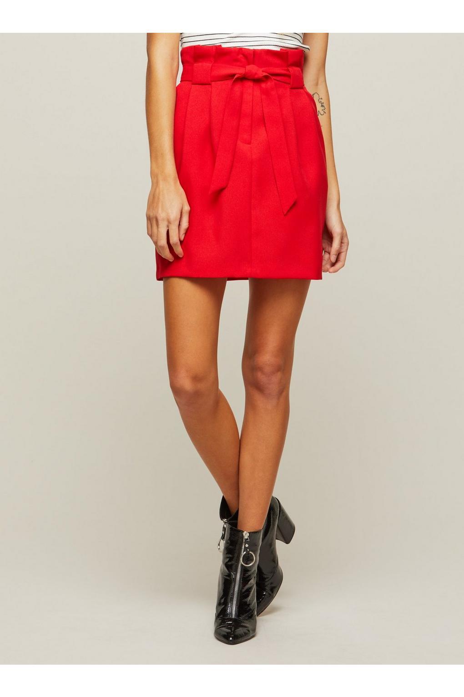 Miss Selfridge Synthetic Red Paper Bag Mini Skirt