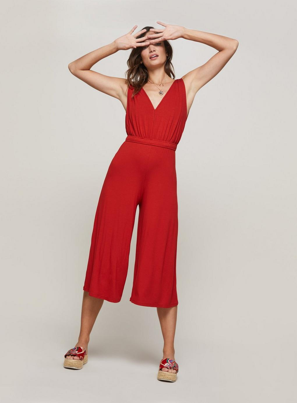 789dcd13ec0 Miss Selfridge Rust Jumpsuit in Red - Lyst