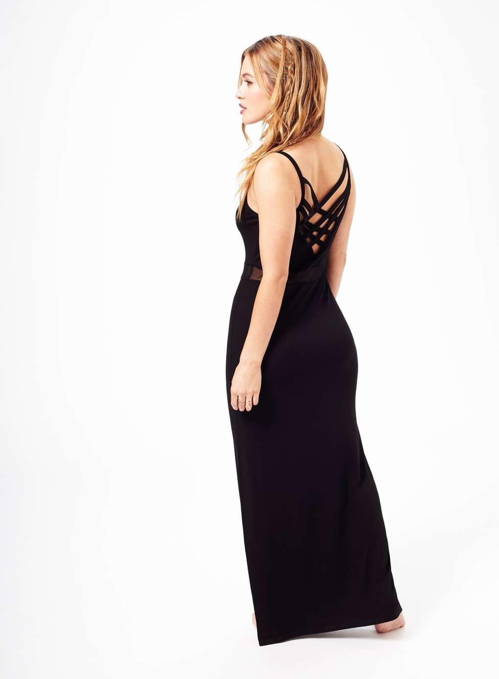 Miss Selfridge Synthetic Petites Lattice Maxi Dress in Black