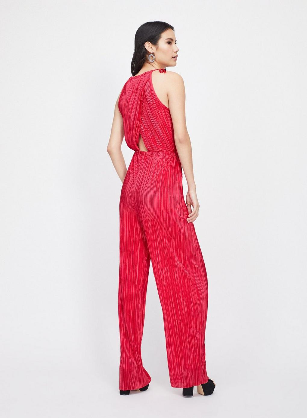 2049f50aff0 Lyst - Miss Selfridge Berry Red Plisse Jumpsuit in Red