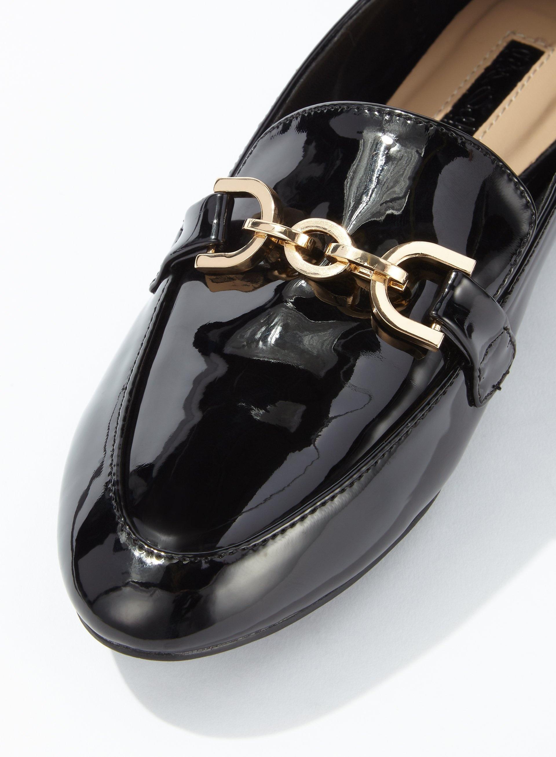 Fancy Trim Detail Loafers - Lyst
