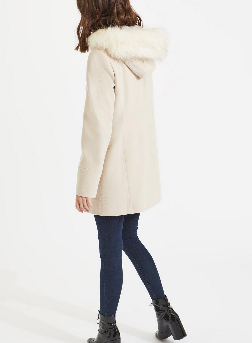 7000a84d56c Miss Selfridge - Natural Oatmeal Toggle Duffle Coat - Lyst. View fullscreen