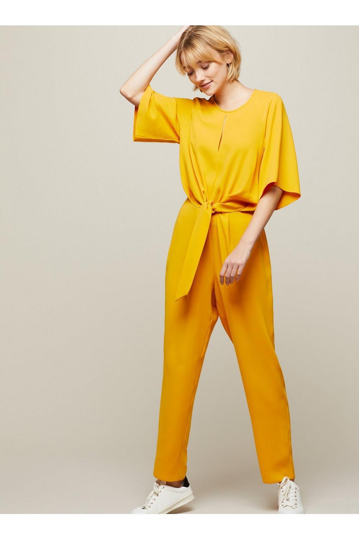 cd7ceea75ae Lyst - Miss Selfridge Marigold Tie Jumpsuit in Yellow