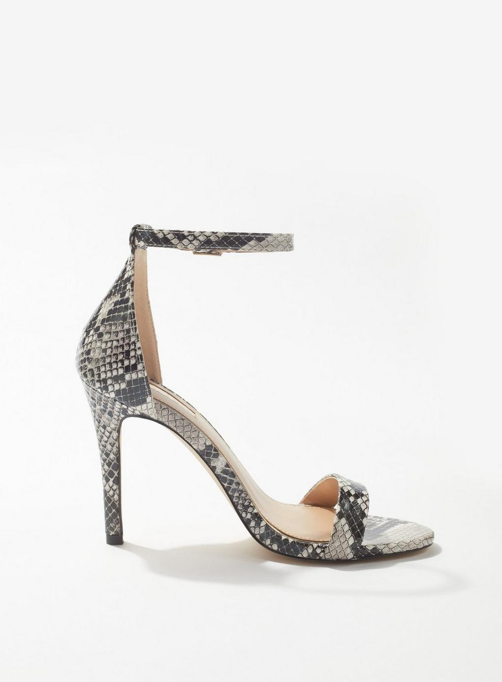 8da4672a2fd Lyst - Miss Selfridge Harley Grey Barely There Sandals in Gray