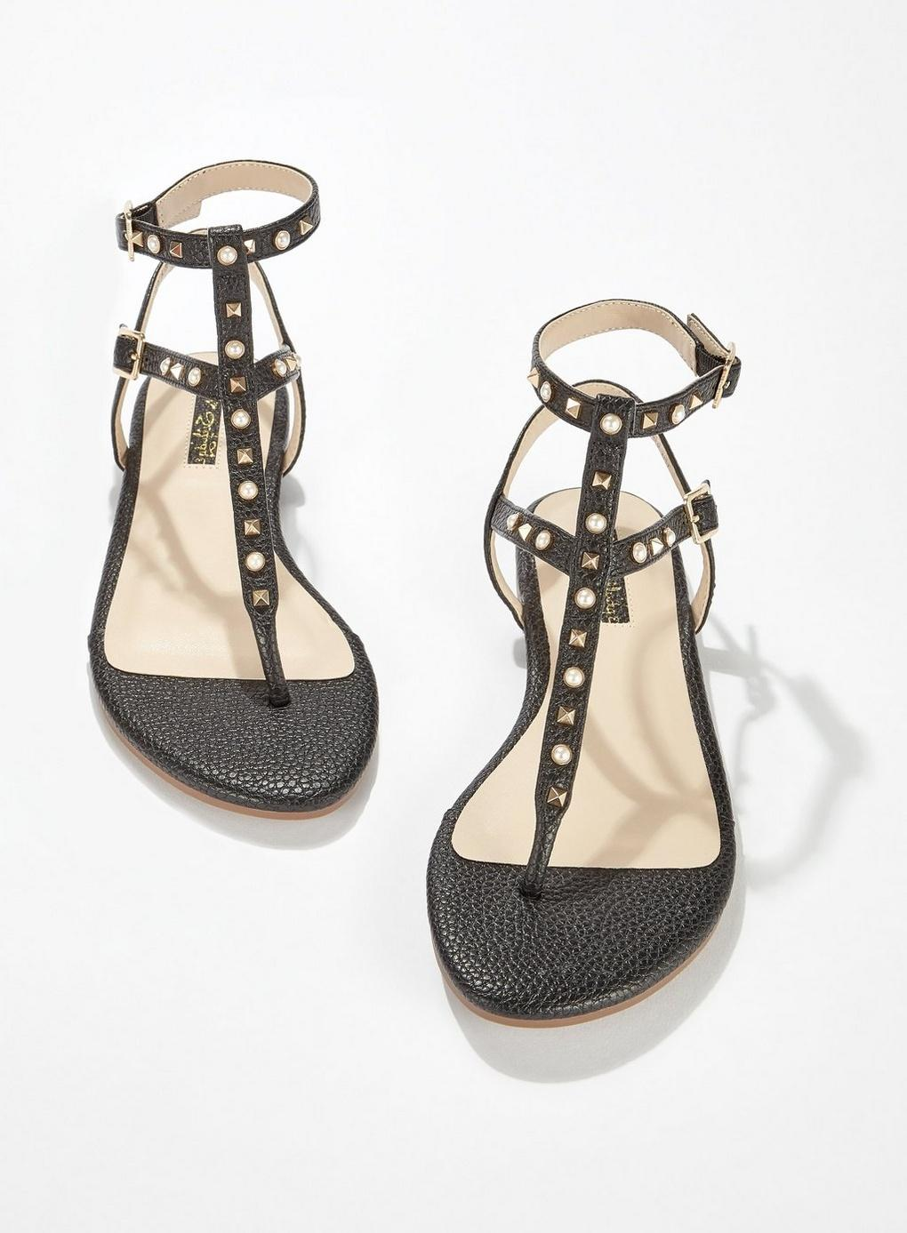 1b21996f181d Miss Selfridge - Black Evangelina Thong Sandals - Lyst. View fullscreen