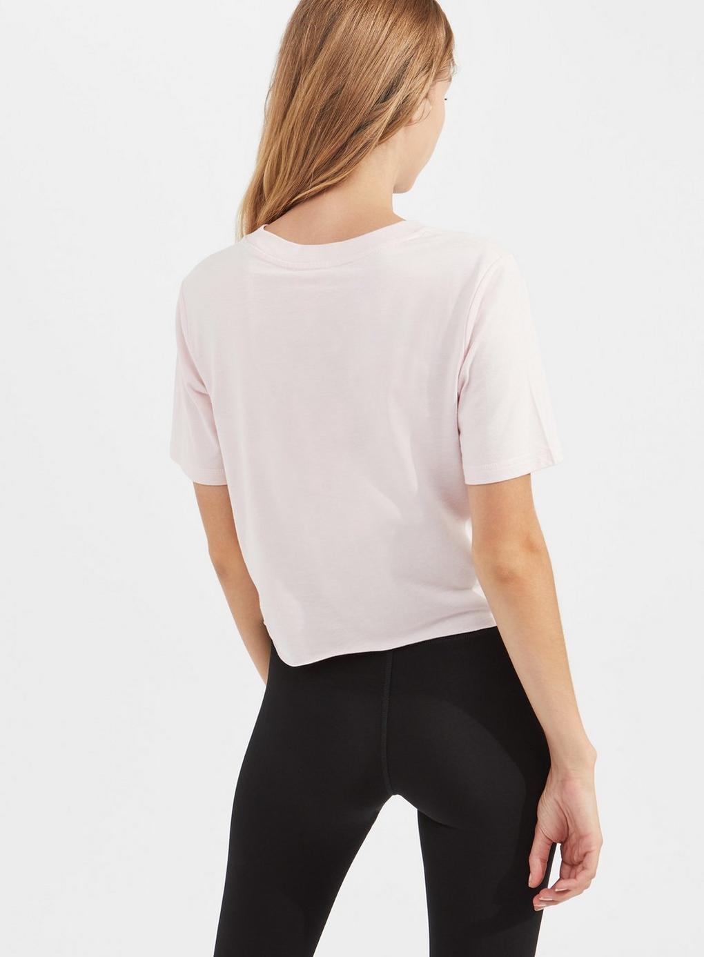 08504cc19a9aa Miss Selfridge - Pineapple Pink Crop T-shirt - Lyst. View fullscreen