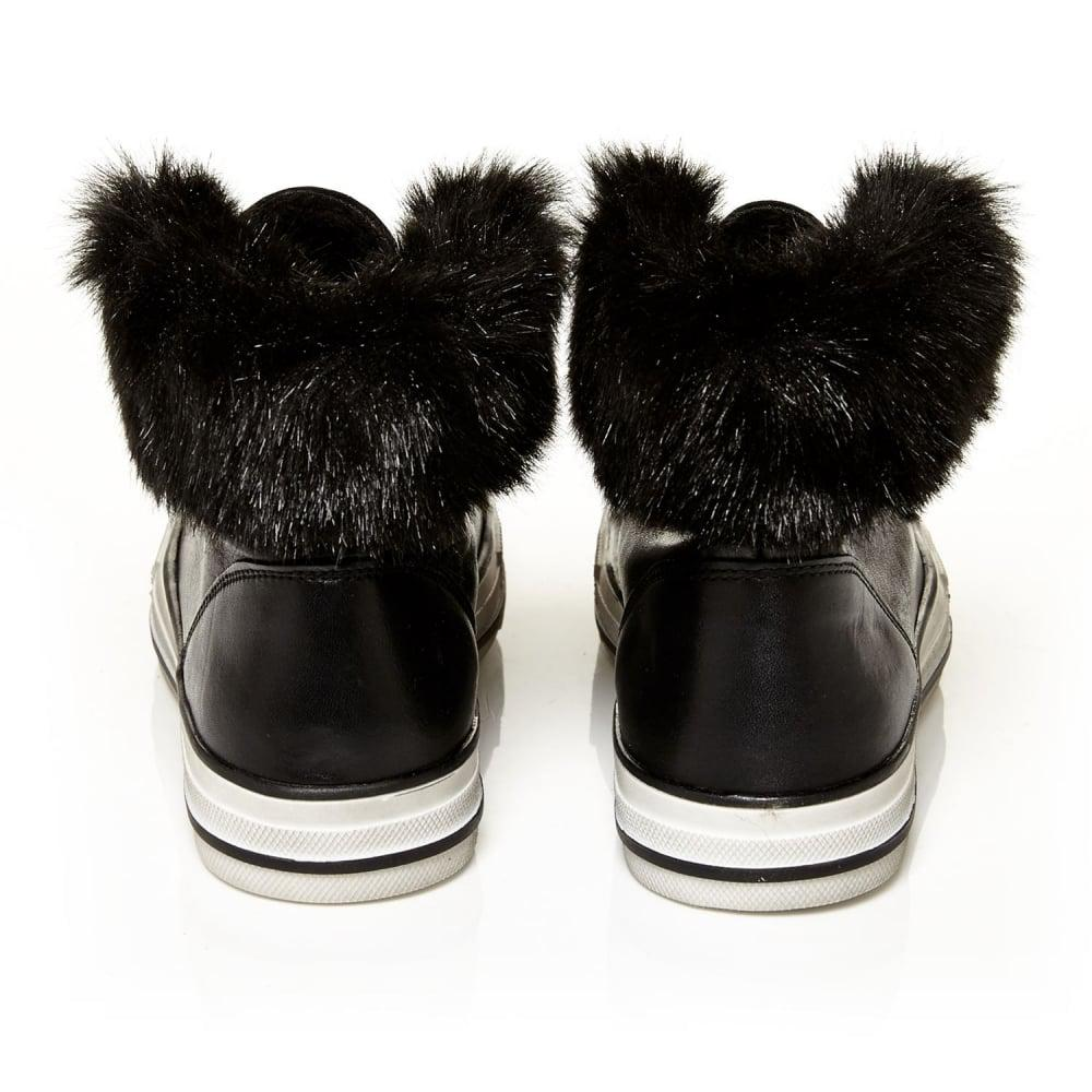 Moda In Pelle Fur Agnello in Black