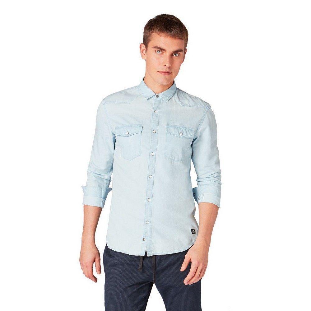 Tom Tailor Denim Denim Overhemd in het Blauw voor heren