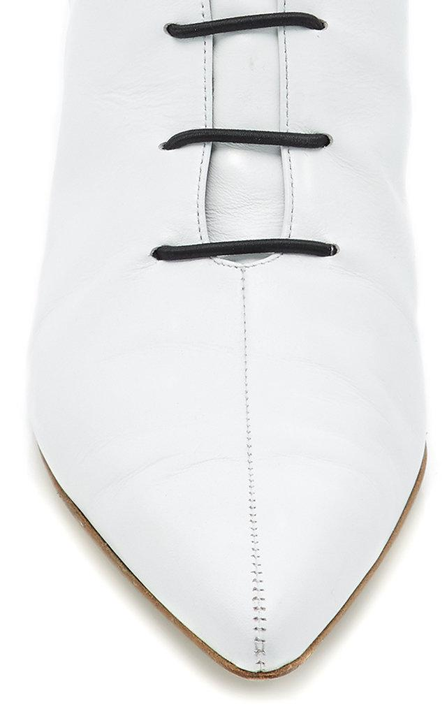 Tibi Asher Lace Bootie in White