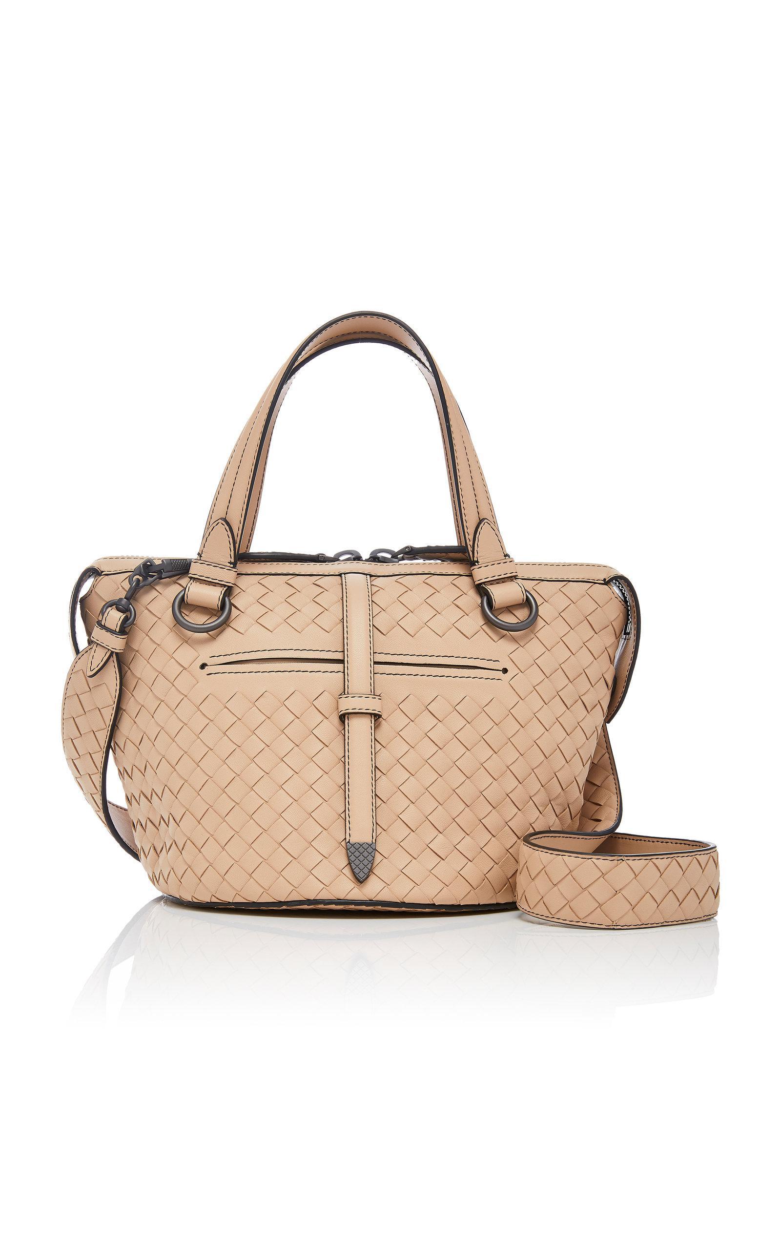 Bottega Veneta Small Tambura Intrecciato Leather Tote in White - Lyst fd8330683e77b