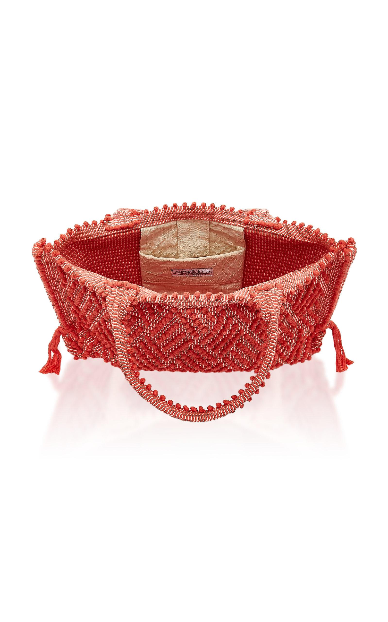 Antonello Capriccioli Medium Cotton Tote in Red