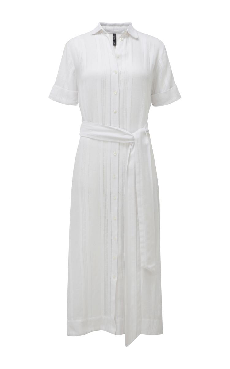 Lisa marie fernandez button down shirt dress in white lyst for White button down dress shirt