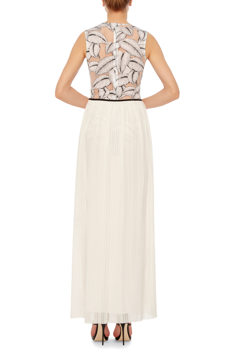 thakoon solid chiffon maxi skirt in white lyst
