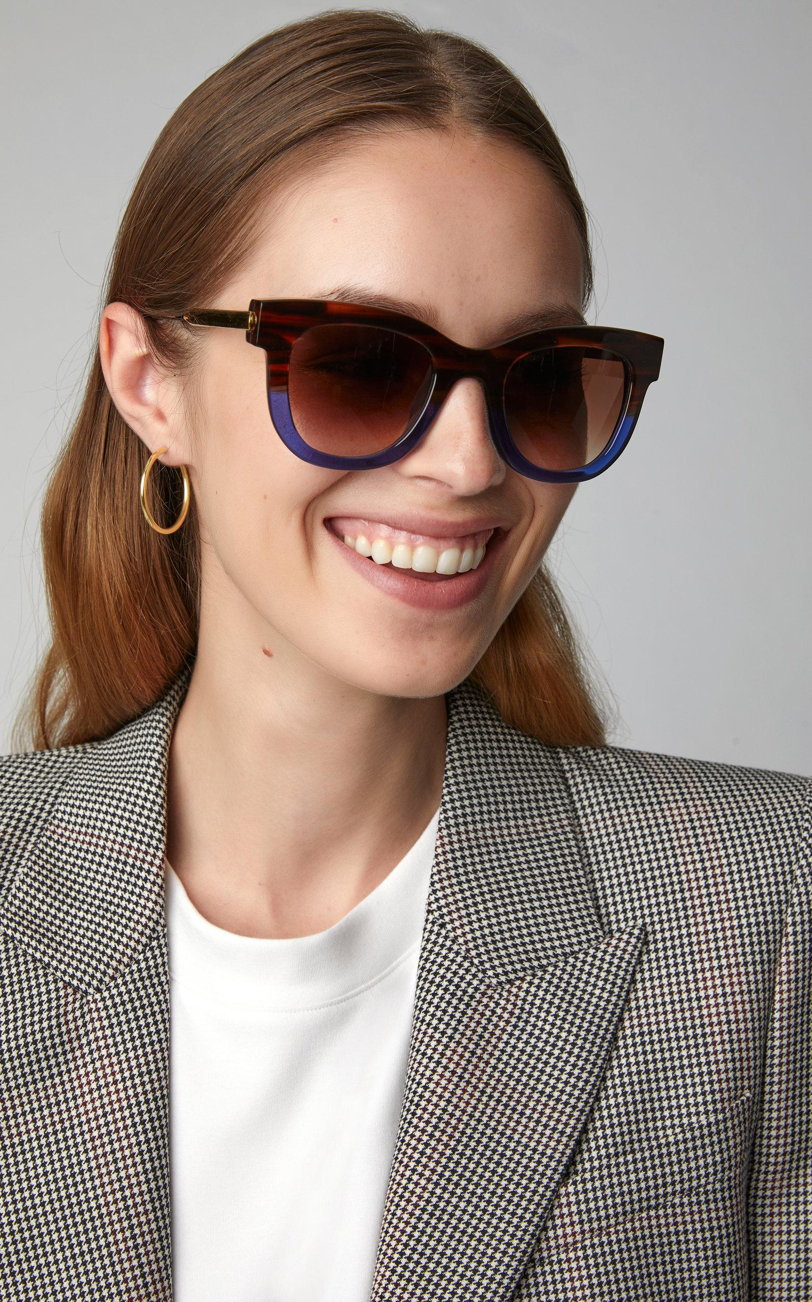 850341a9d0 Thierry Lasry - Blue Sexxxy 197 Two-tone Cat-eye Sunglasses - Lyst. View  fullscreen