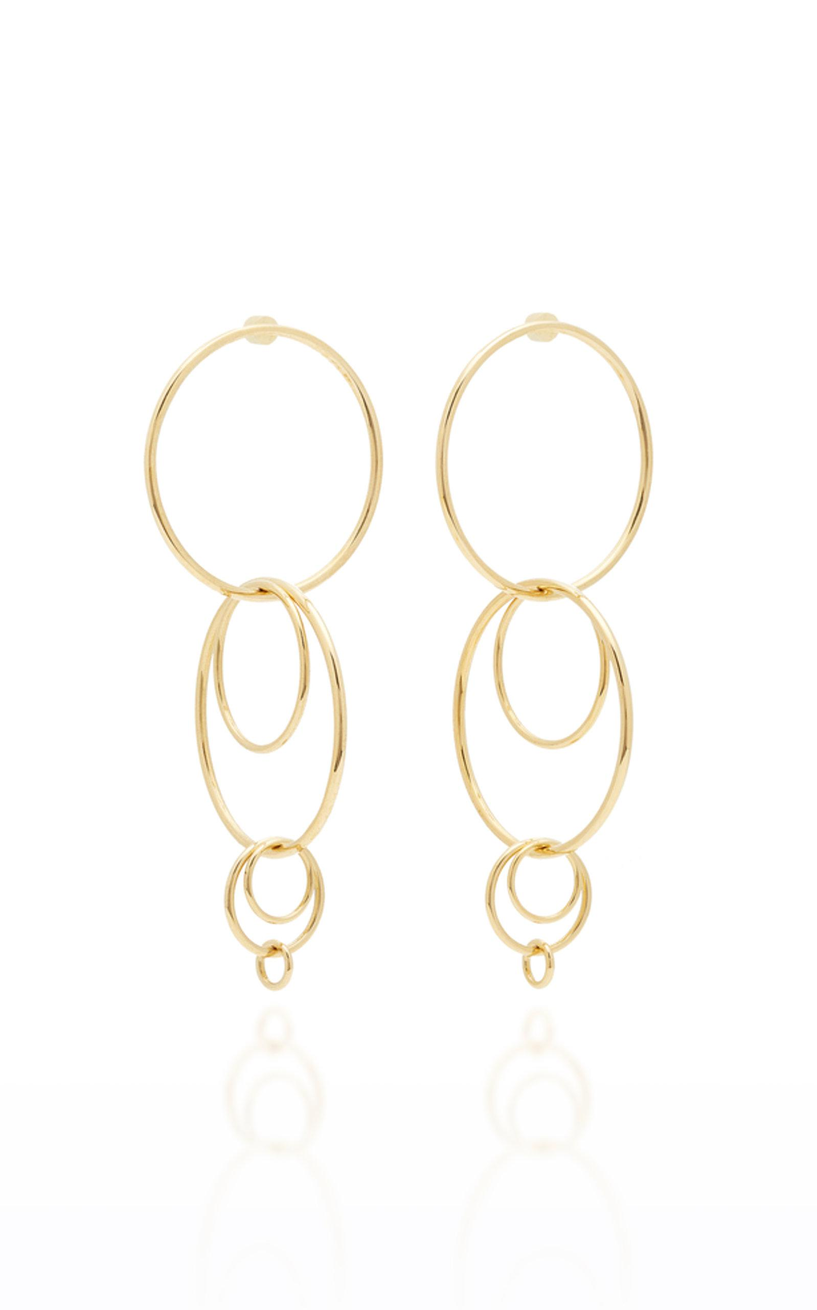 Jennifer Fisher XL Multi Hoop Brass-Plated Earrings rYr1MLU
