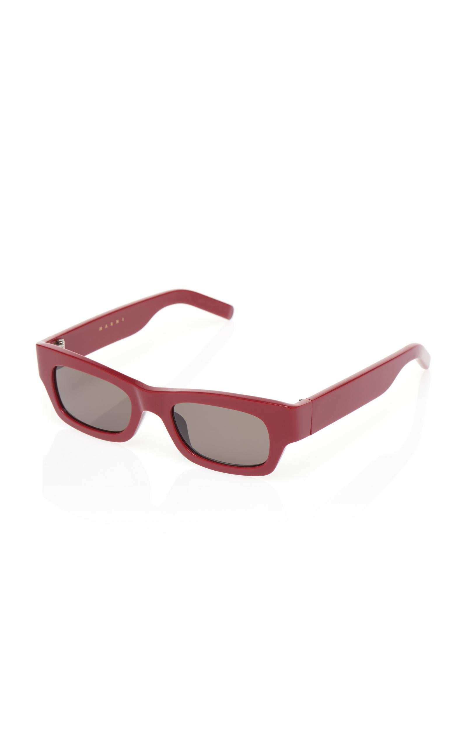 Marni The Sleek Sunglasses in Red