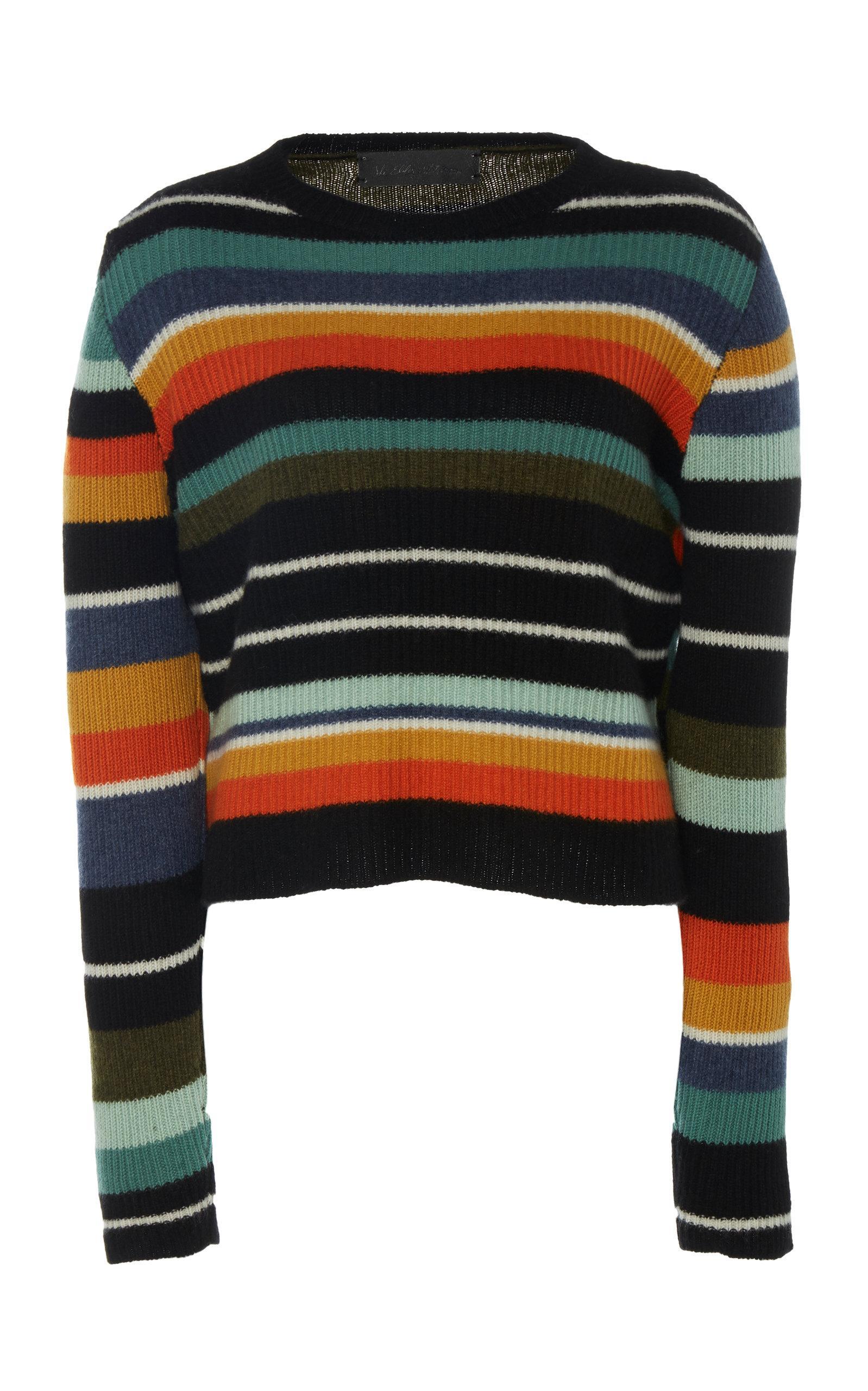 51ad9437188 The Elder Statesman Pomona Striped Cashmere Sweater - Lyst