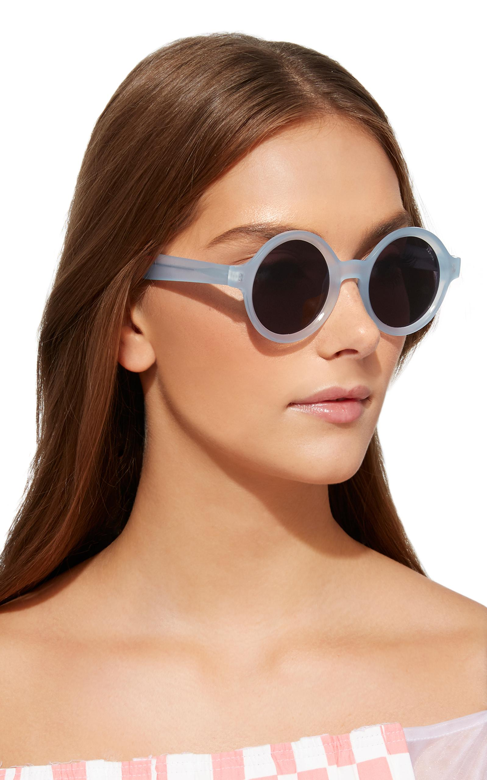 LAPIMA Marie Round Sunglasses in Blue