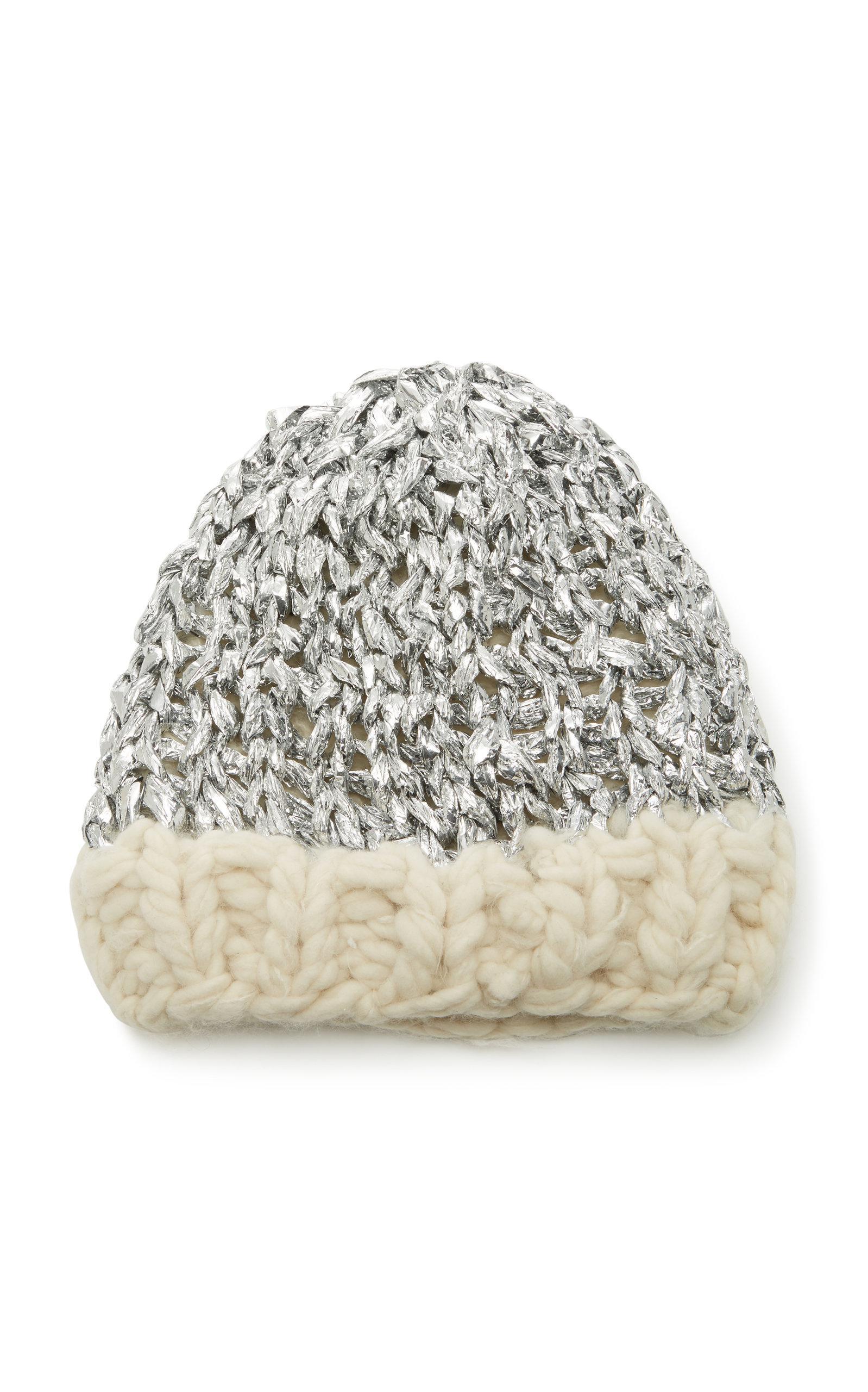 e7aa8d73b37 Yestadt Millinery Mylar Metallic Wool Beanie in Gray - Lyst