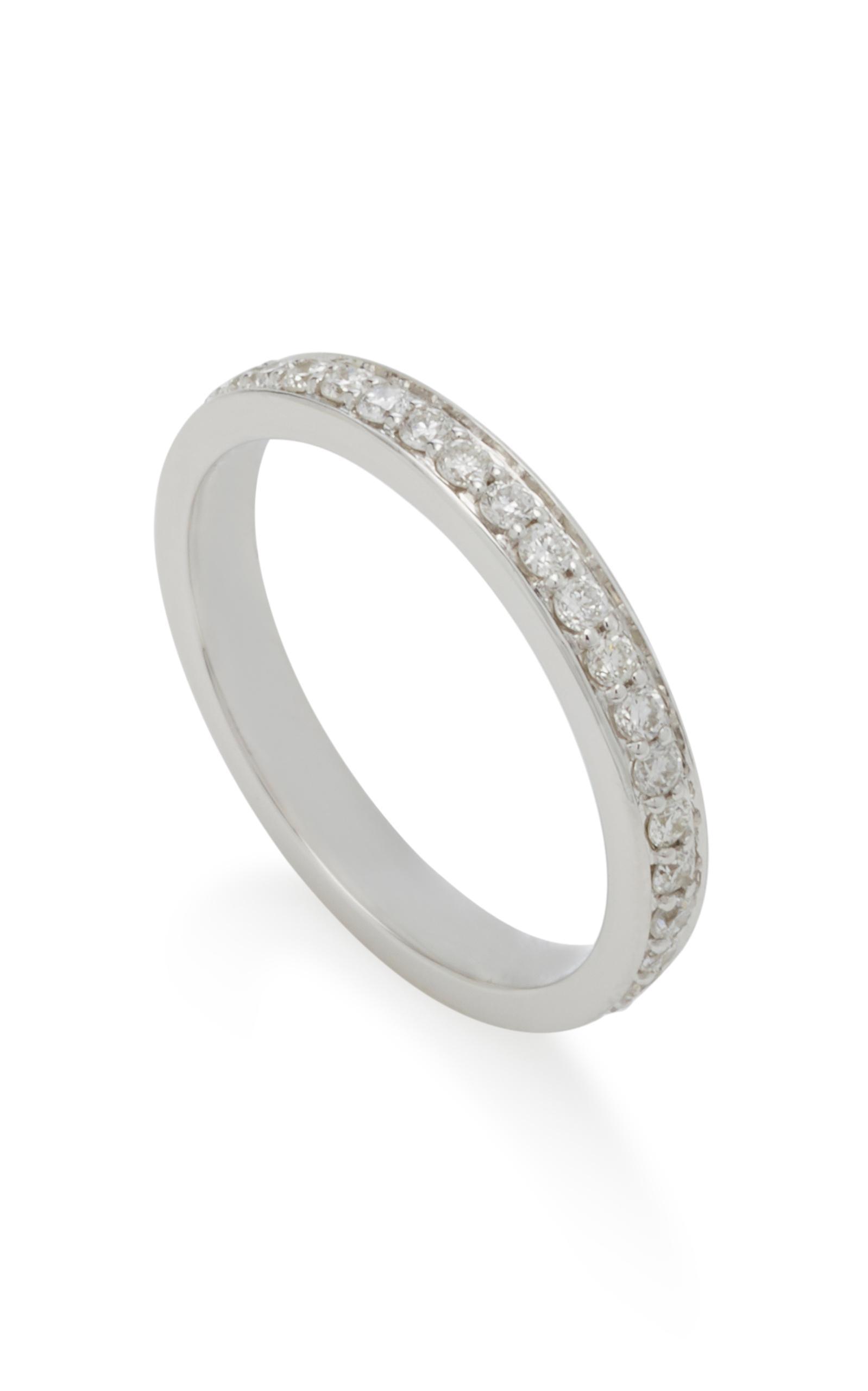 Monica Rich Kosann Poesy Love 18k White Gold Diamond Necklace