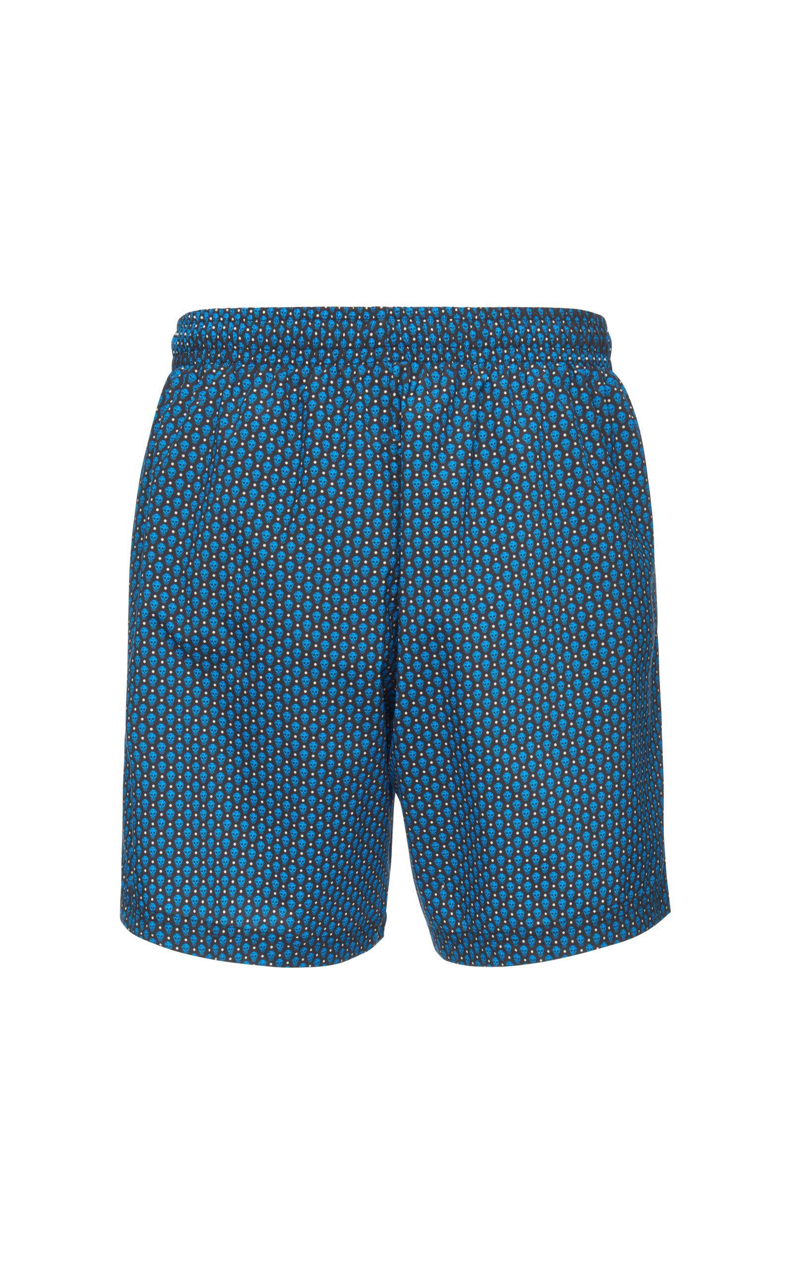 308301fb0d Alexander McQueen - Blue Skull-print Swim Shorts for Men - Lyst. View  fullscreen