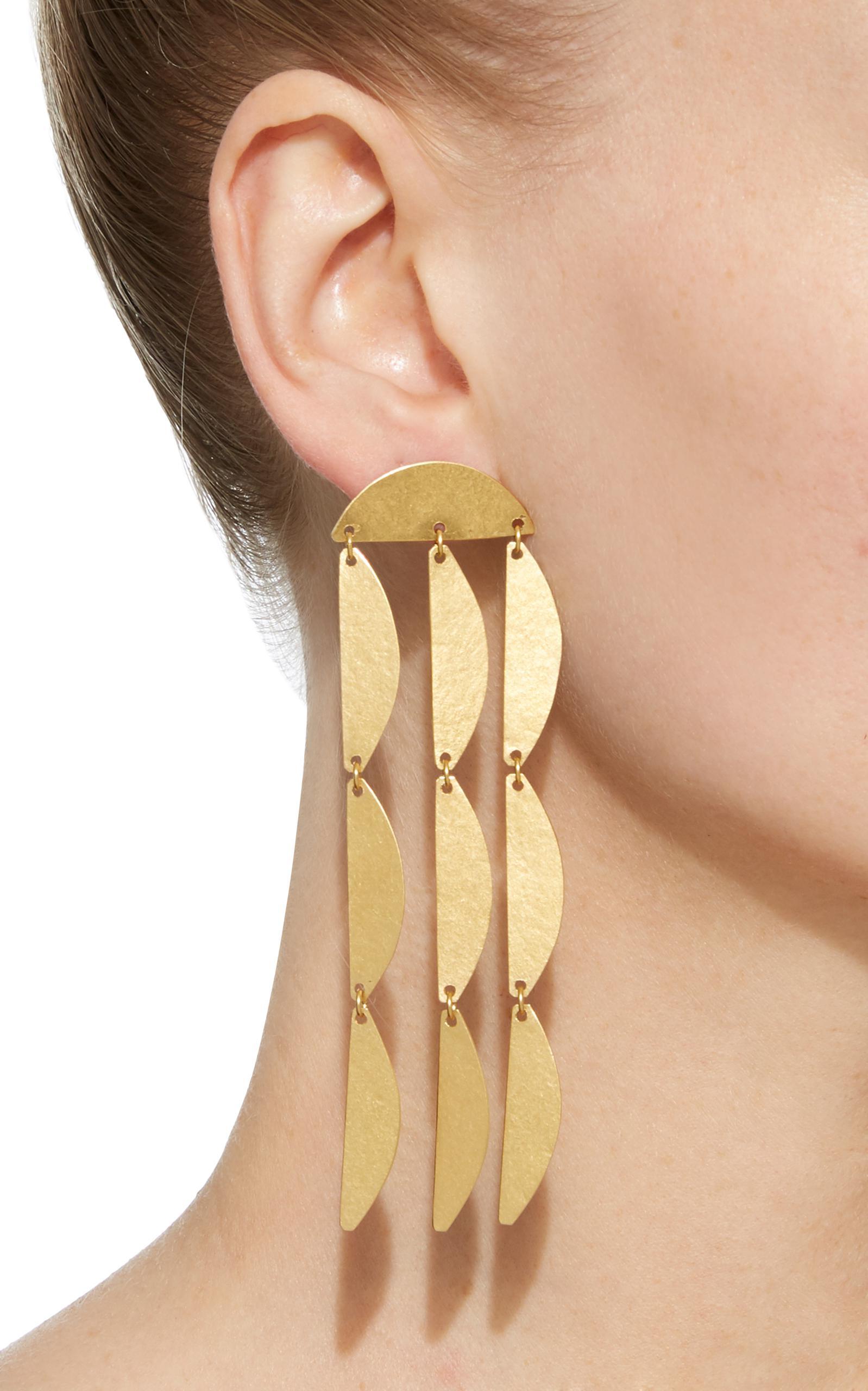 Annie Costello Brown Rain earrings OMp68iqPg