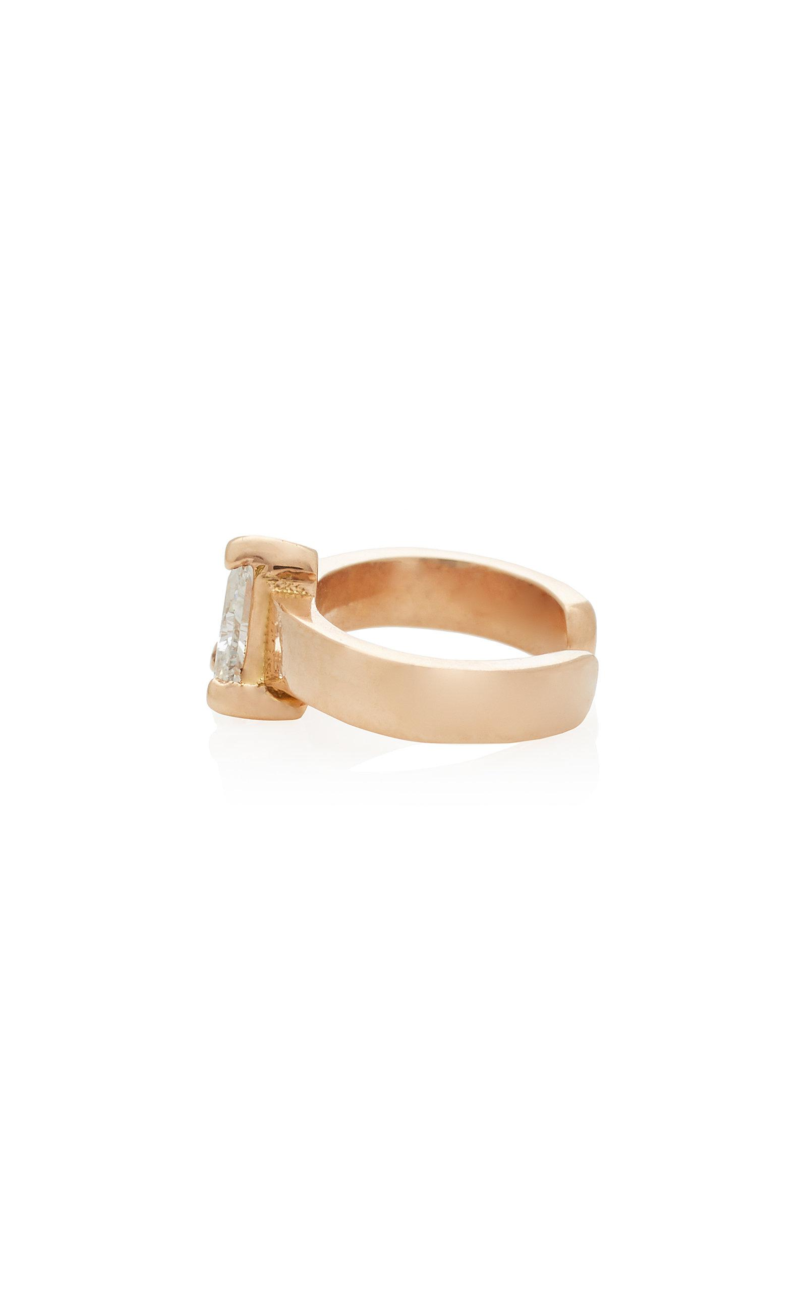 Anita Ko Single Trillion Diamond Ear Cuff in Pink