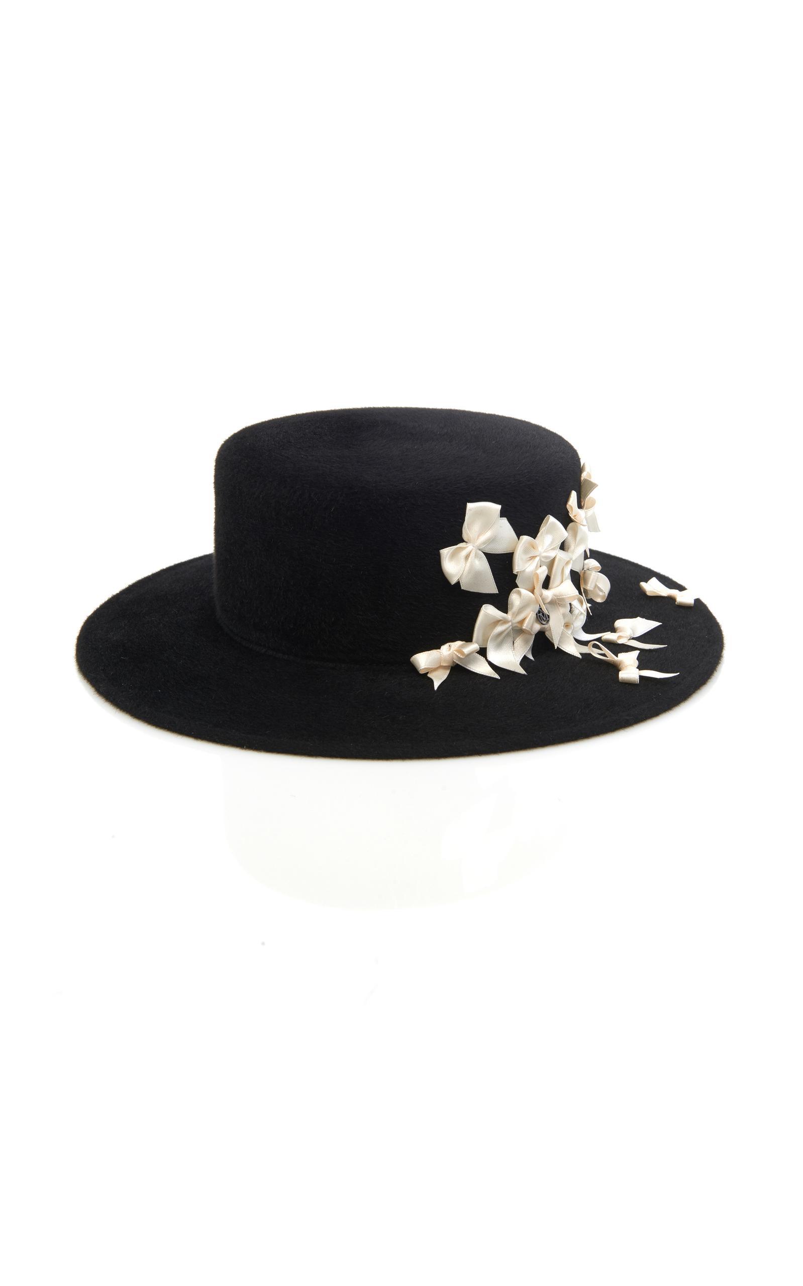 Kiki glitter-trimmed cutout hat - Black Maison Michel SSAQpmoNT