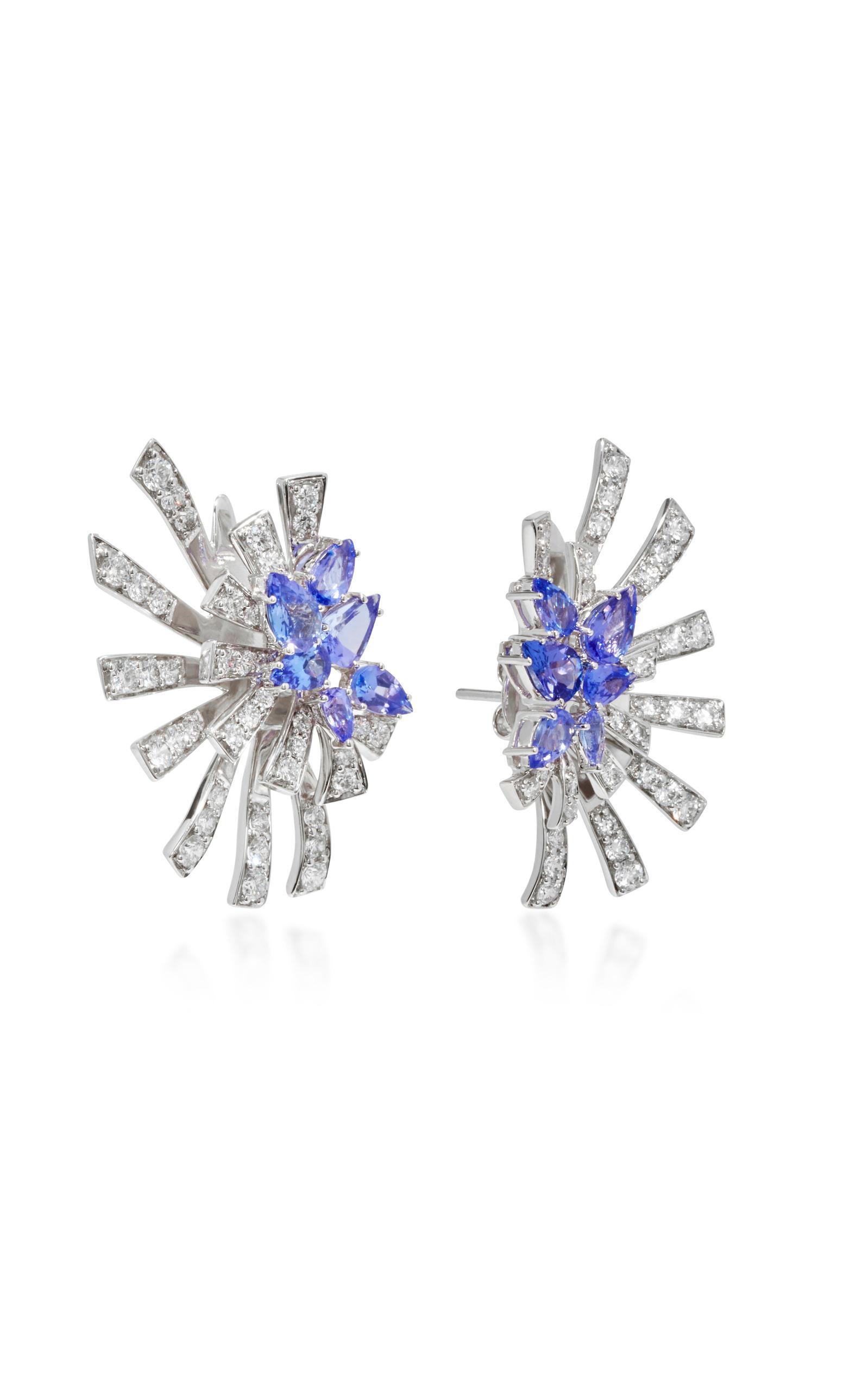 Mirage 18K White Gold Diamond and Tanzanite Earrings Hueb IzGxrQ86