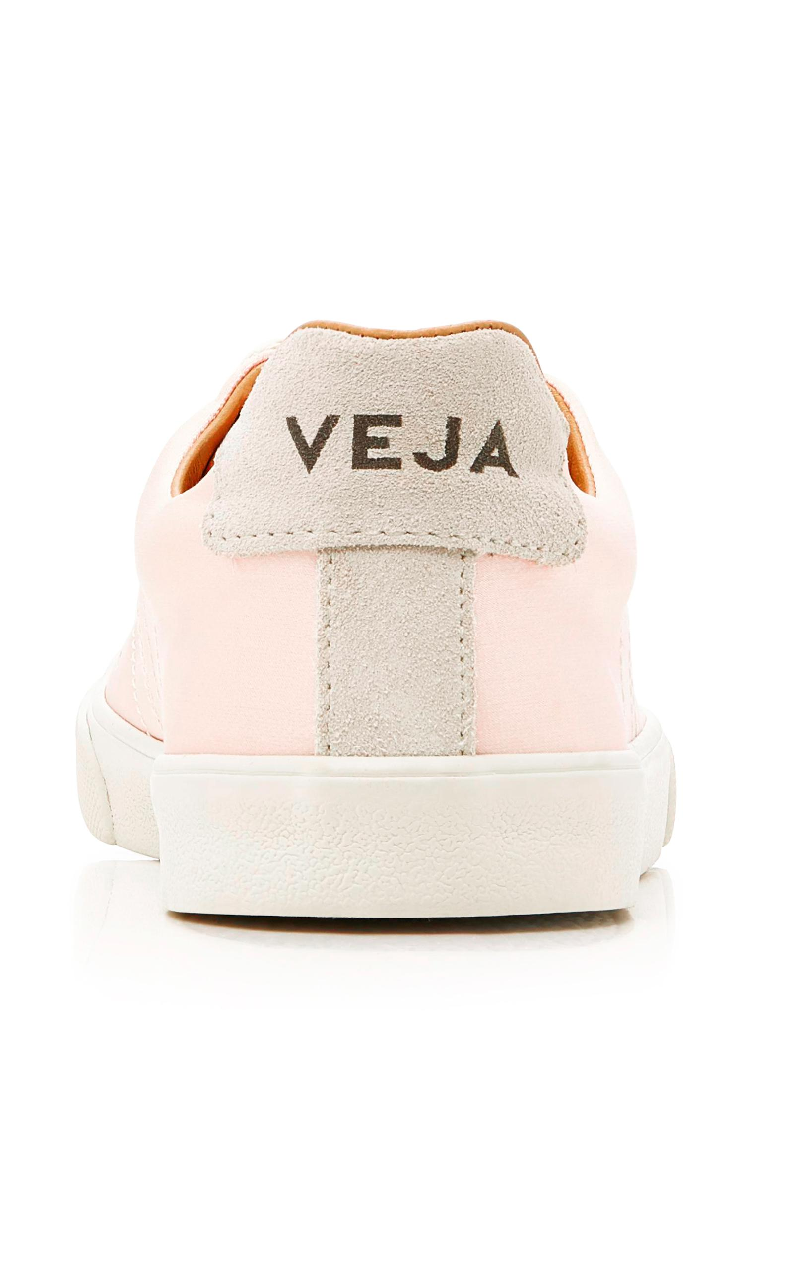 Veja Esplar Bastille Silk Sneakers in Pink