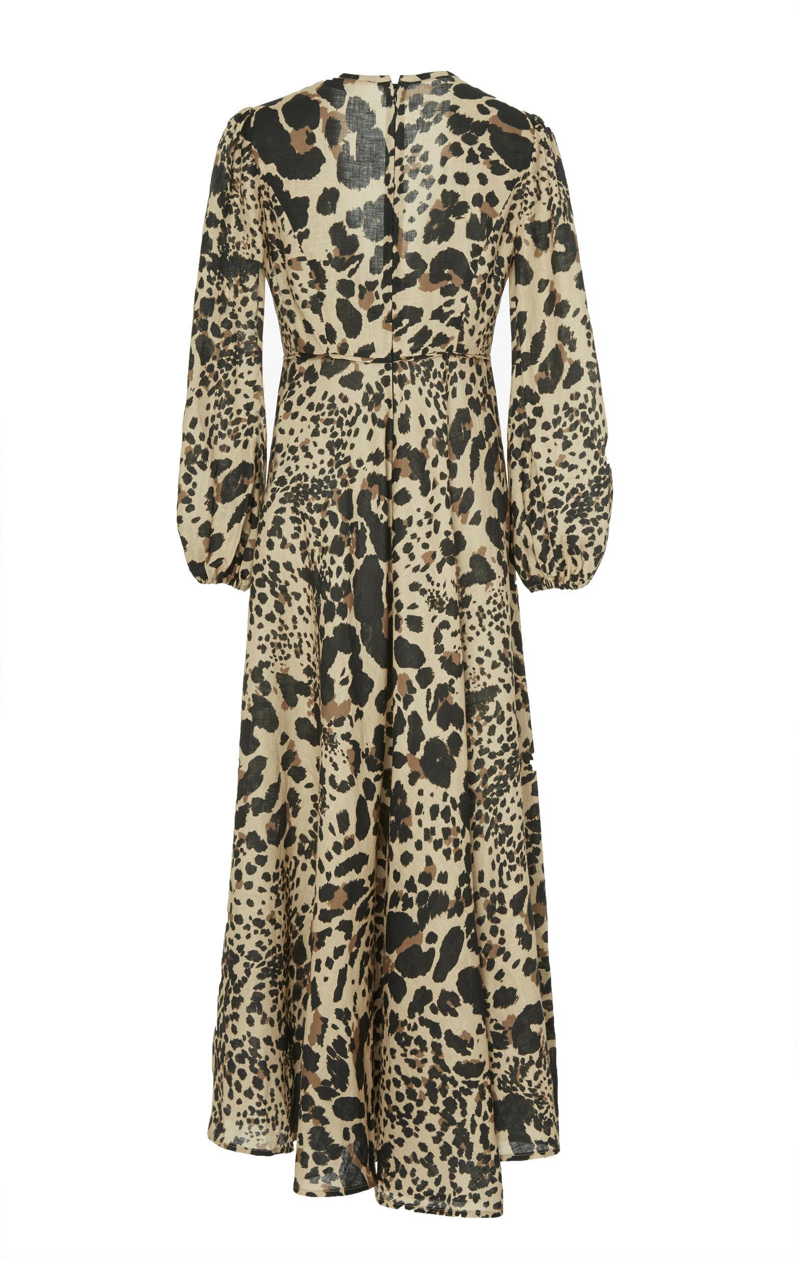 da8cd51fe7f Zimmermann - Multicolor Veneto Printed Linen Maxi Dress - Lyst. View  fullscreen