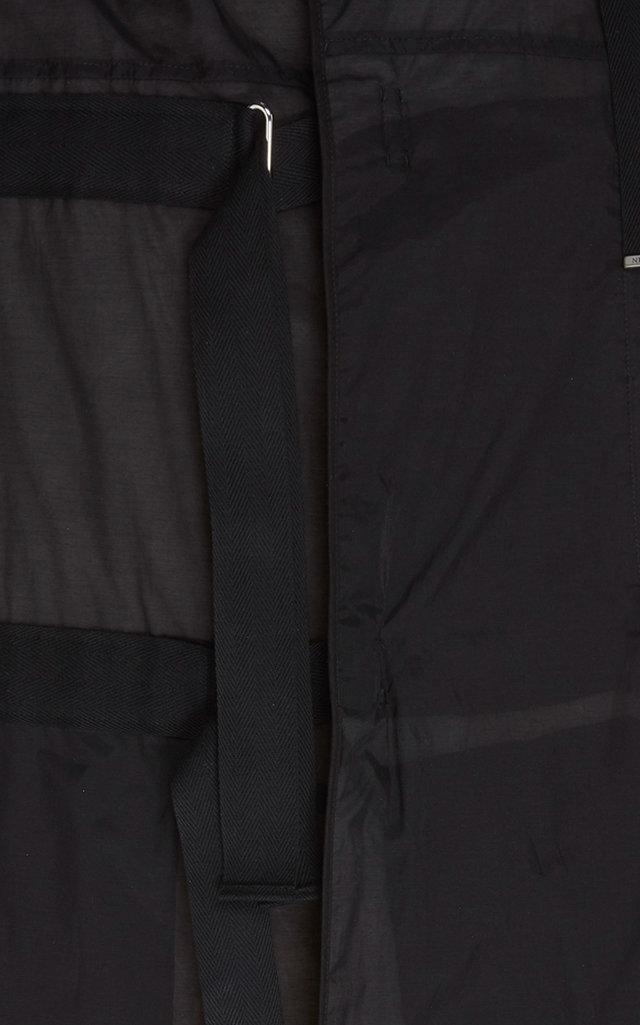 Lanvin Cotton Oversized Parka in Black for Men