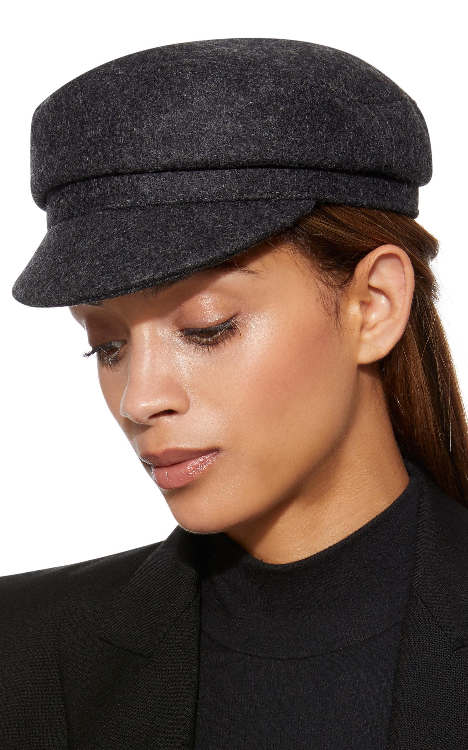 61d7ec93 Isabel Marant Evie Wool-felt Cap in Gray - Save 4% - Lyst