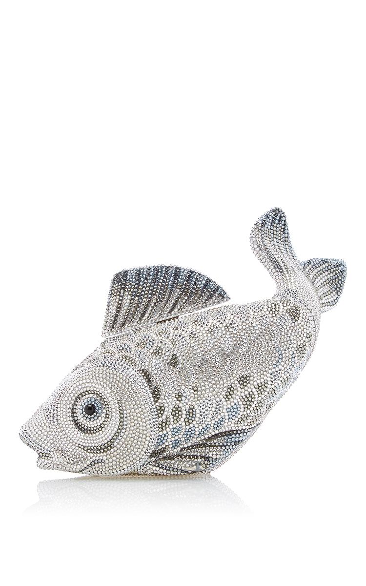 Judith leiber couture koi fish clutch in gray lyst for Grey koi fish