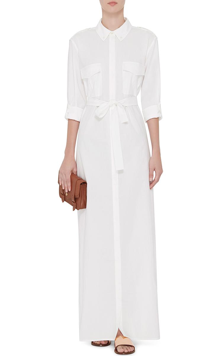 Equipment White Cotton Maxi Shirt Dress - Lyst