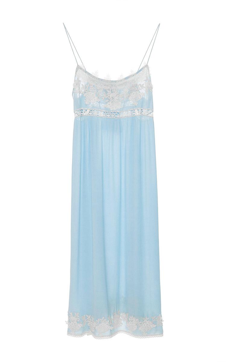 Blugirl blumarine Lace Chemise Dress in Blue (light blue ...