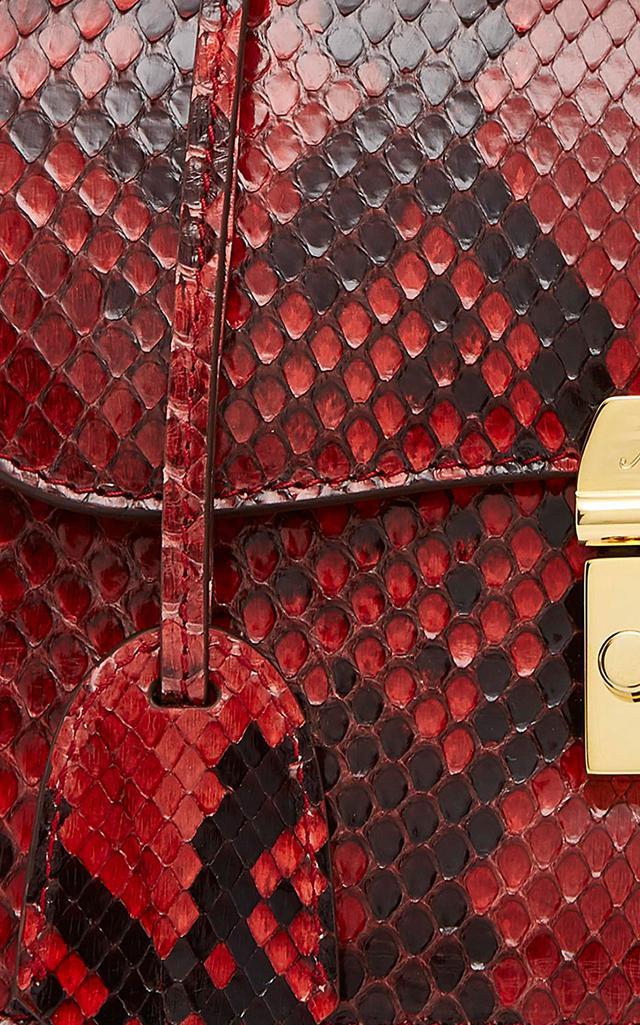 Mark Cross Dorothy Python Bag in Red