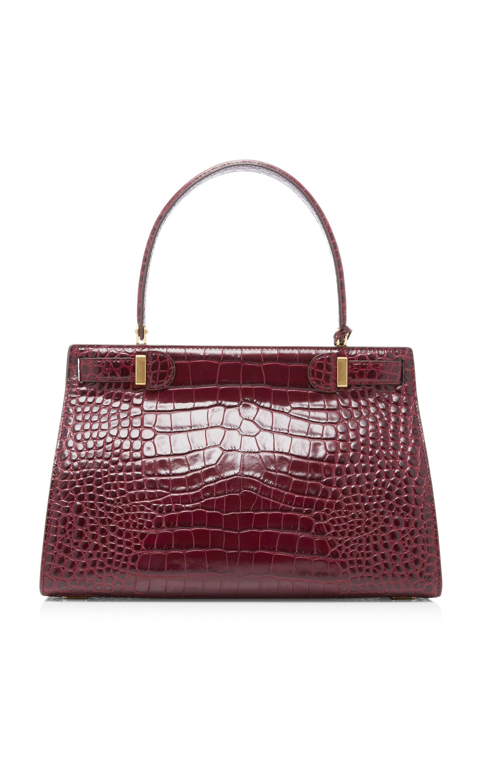 97785edad48e Lyst - Tory Burch Lee Radziwill Embossed Satchel in Red