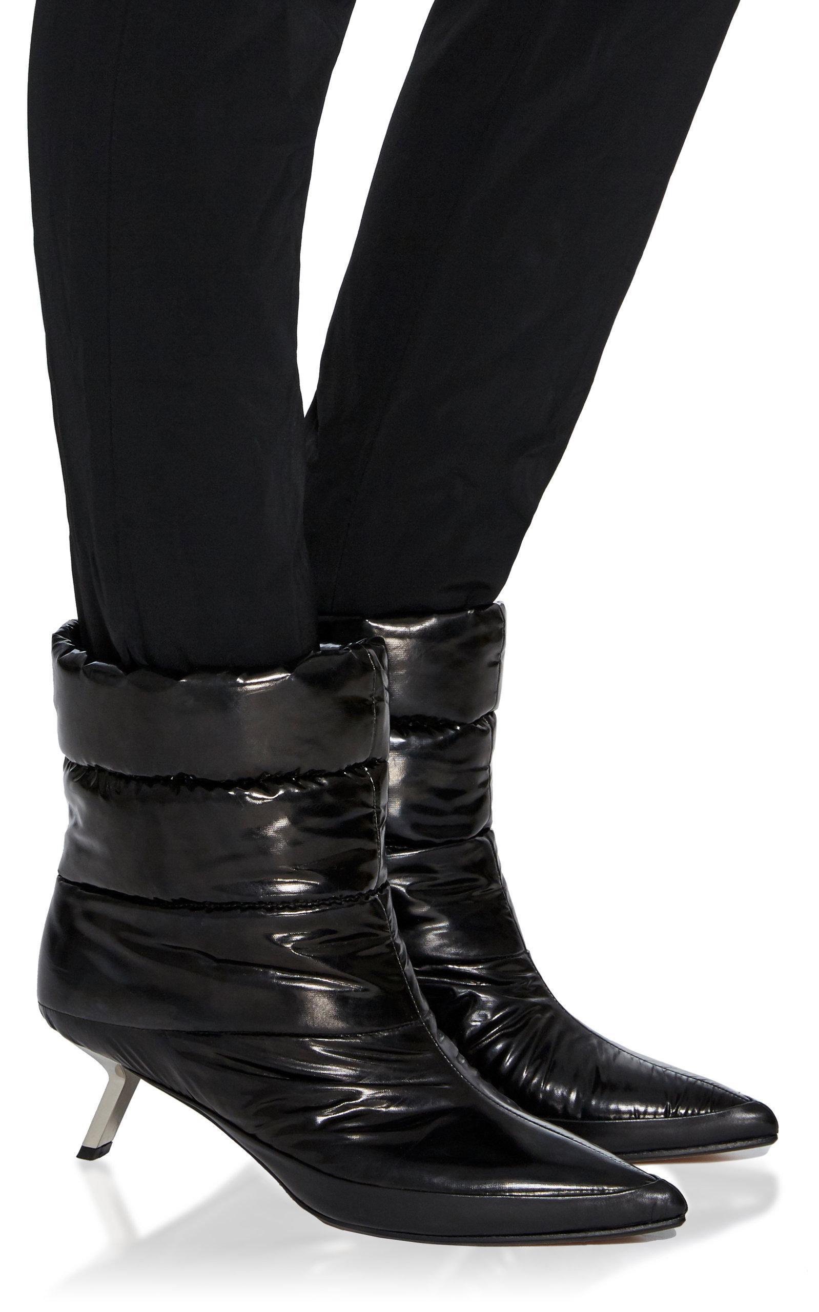 Alchimia Di Ballin Satin Daphne Puffer Bootie in Black