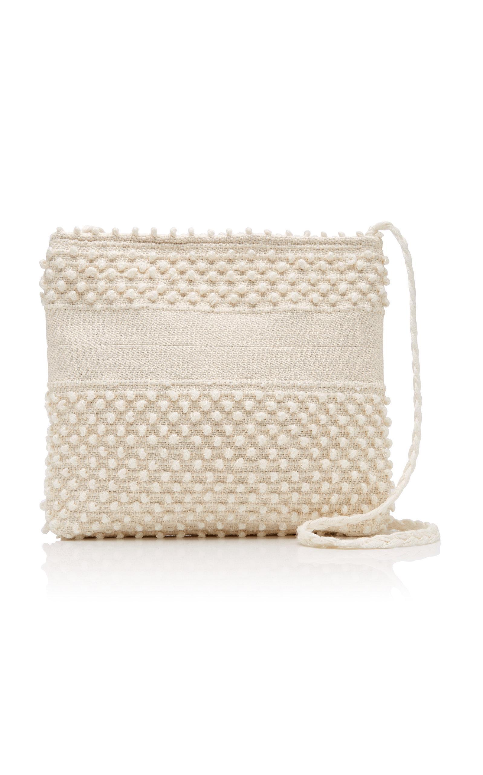36d9f622e7efc Antonello Florina Textured Woven Shoulder Bag in White - Lyst