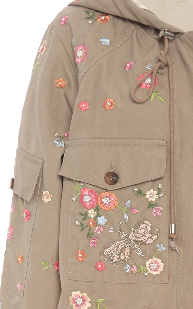904976a8e8 Needle   Thread Military Dragonfly Parka in Blue - Lyst
