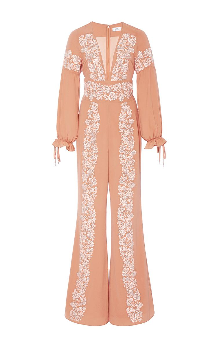 We are kindred joni embroidered flared jumpsuit lyst