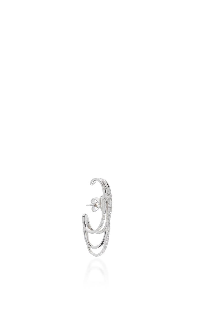 Joelle Jewellery White Gold And Diamond Earring in Silver (Metallic)