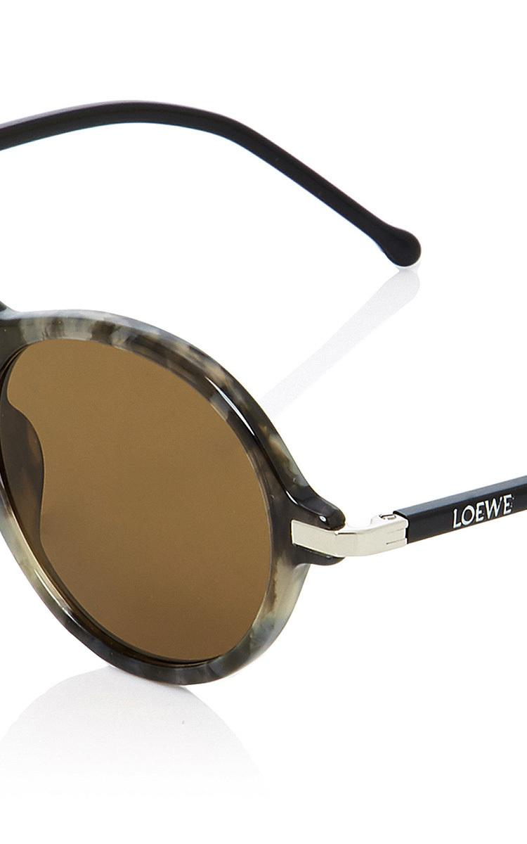 Loewe Alcaufar Round-frame Acetate Sunglasses in Dark Grey (Grey)