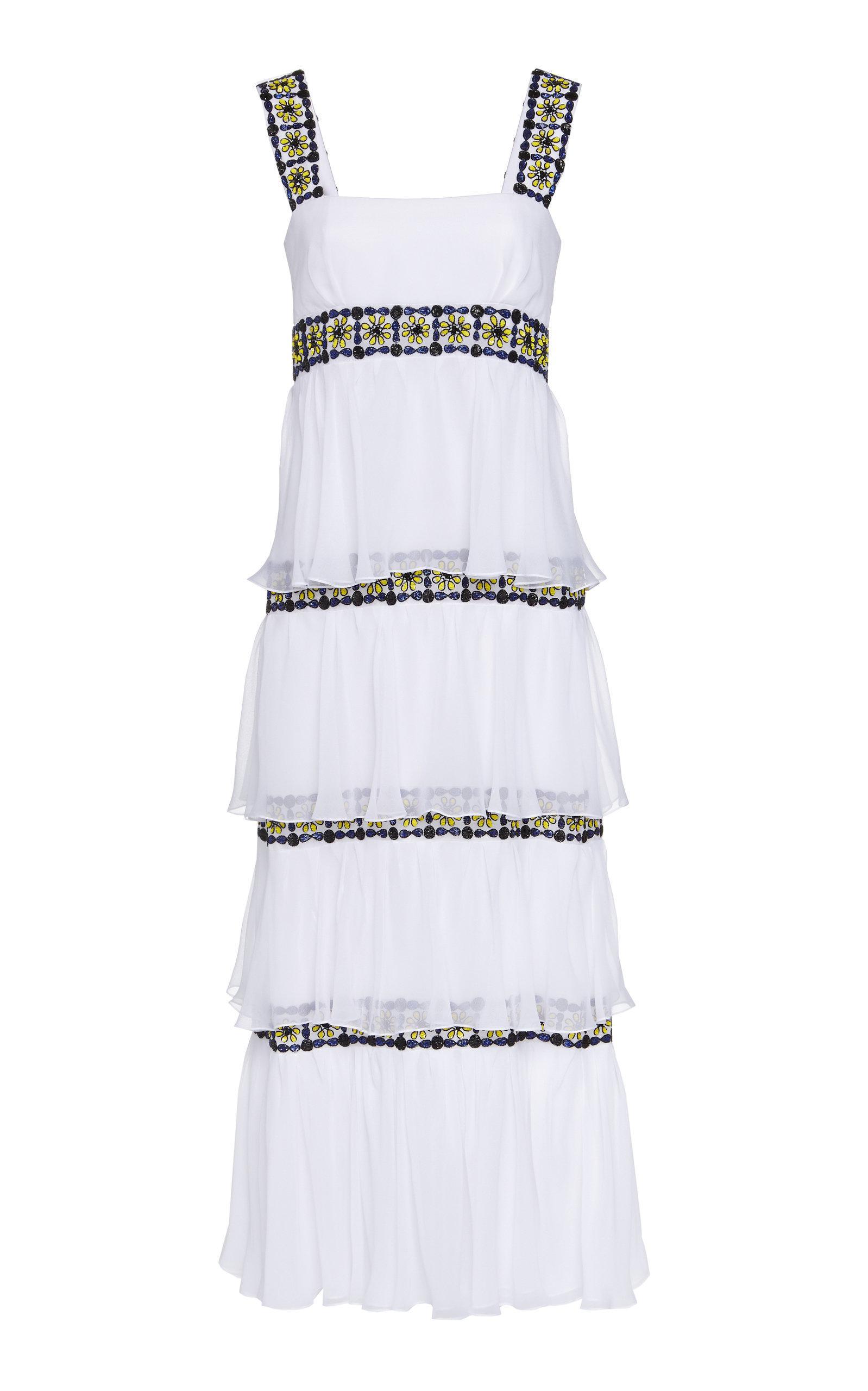 Tiered Mosaic Dress Carolina Herrera 9mnWWY7d4e